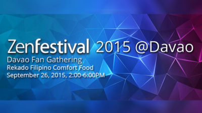 Join ZenFestival 2015 Davao Fans Gathering at Rekado