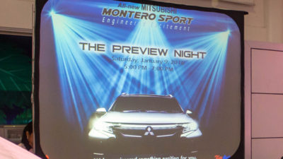 The All-New 2016 Mitsubishi Montero Sport Preview Night