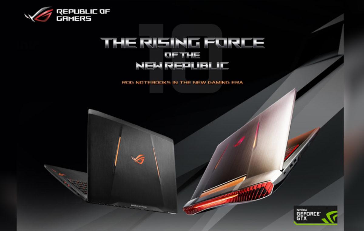 ASUS ROG Announces GeForce GTX 10-Series Gaming Laptops