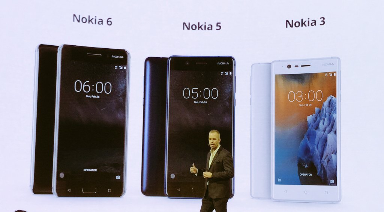 Nokia 6, 5, 3