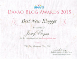 Best New Blogger 2015