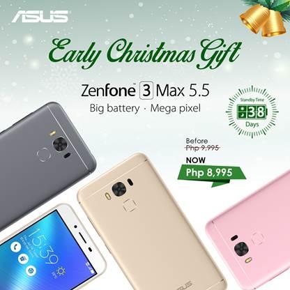 ZenFone 3 Max 5.5 holiday promo