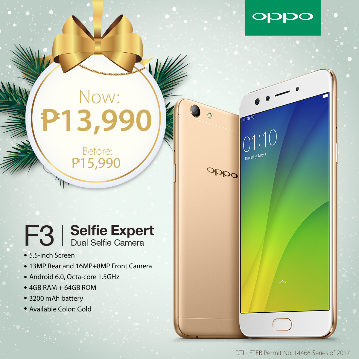 OPPO Holiday Gift Guide F3