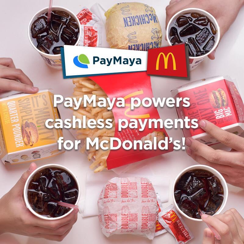 McDonlad's with PayMaya cashless