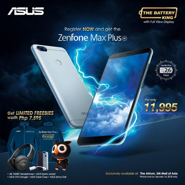 Zenfone Max Plus M1 Price and Freebies