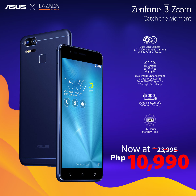 ZenFone x Lazada Flash Sale - ZenFone 3 Zoom