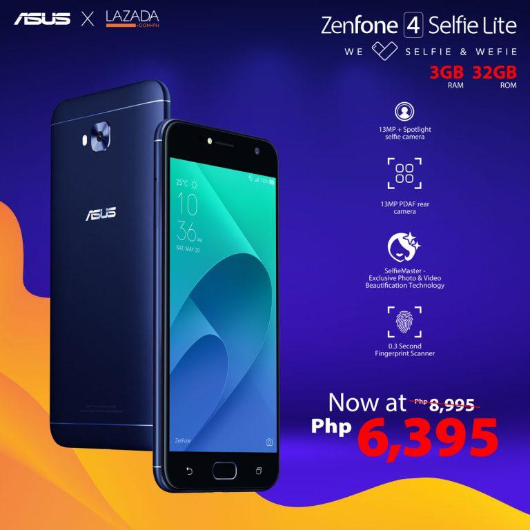 ZenFone x Lazada Flash Sale - ZenFone 4 Selfie Lite
