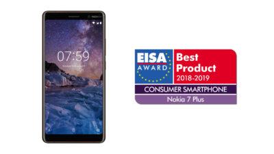 Nokia 7 Plus Wins Consumer Smartphone of the Year – EISA Awards 2018