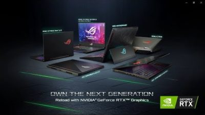 Full Range of ROG RTX Laptops Announced at CES 2019