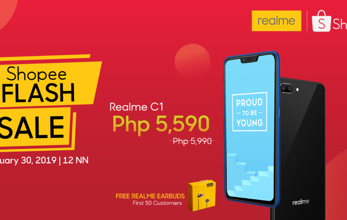 Official Realme Shopee Store Launched – Flash Sale on January 30