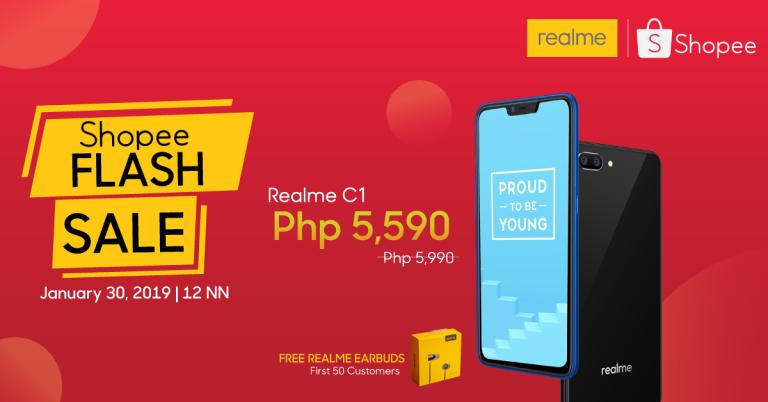 Realme Shopee Store Flash Sale