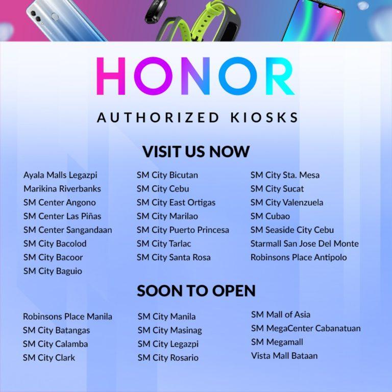 Honor Authorized Kiosks 2019