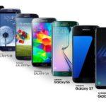 Samsung Galaxy S1 to S9