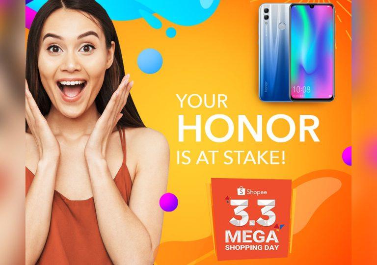 Honor Phones Shopee 3.3 Mega Shopping Day Sale