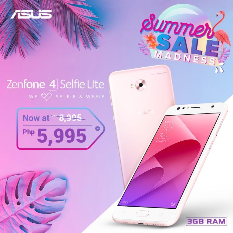ZenFone Summer Madness Sale - ZenFone 4 Selfie Lite