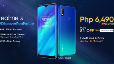 Realme 3 to be on Sale in Shopee's 4.4 Summer Bazaar