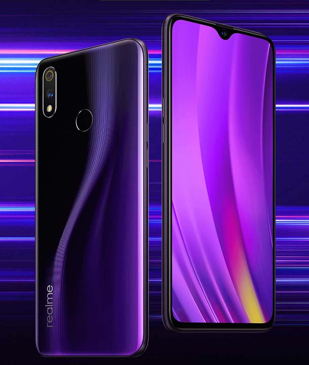Realme 3 Pro front and back