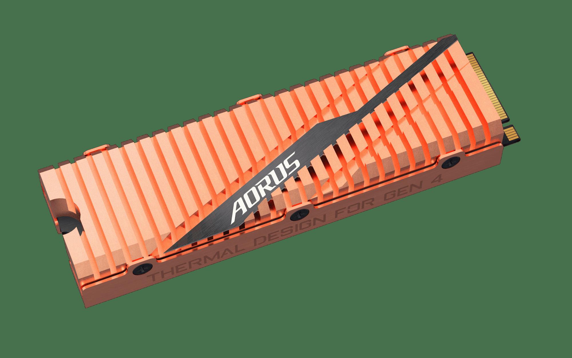 Copper Heatsinks - GIGABYTE Aorus NVMe Gen4 SSD PCIe 4.0
