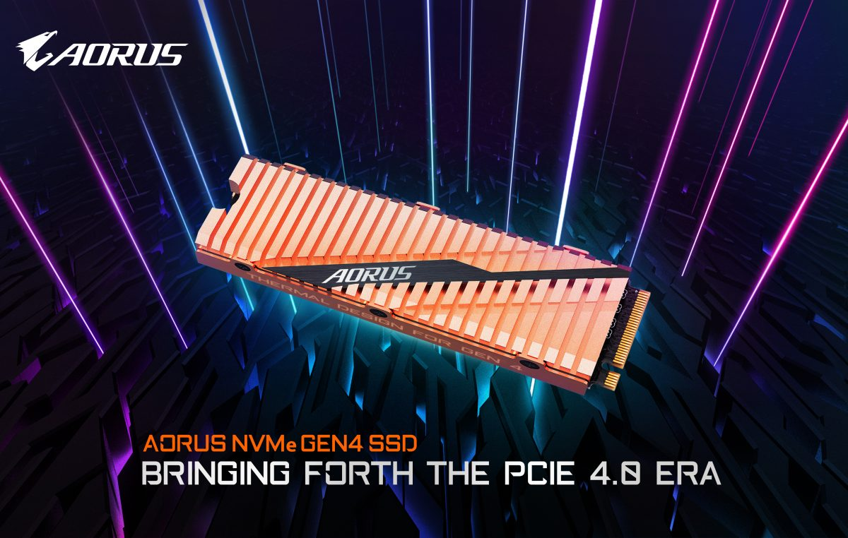 GIGABYTE Announces their New Aorus NVMe Gen4 SSD PCIe 4.0