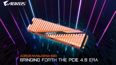 GIGABYTE Announces their New Aorus NVMe Gen4 SSD PCIe 4.0
