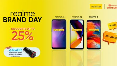 Heads Up! realme Flash Sale at Shopee Brand Day on August 13