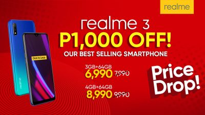 Php 1,000 Off on Realme 3 Markdown Starting August 1