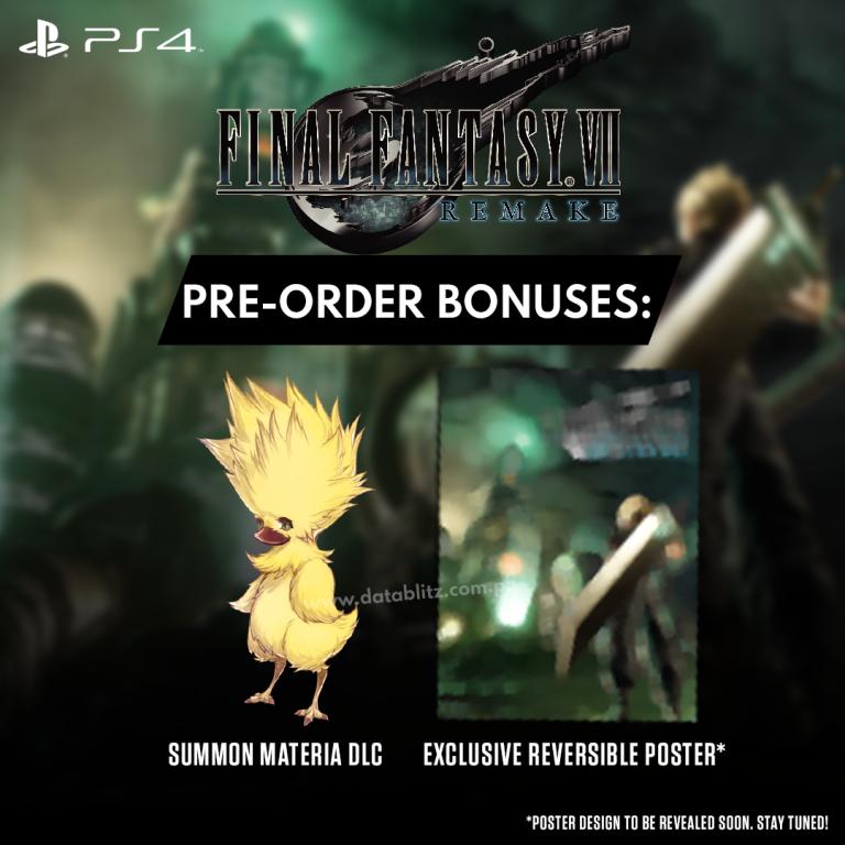 Final Fantasy VII Remake Pre-Order Bonuses