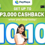 Shop with PayMaya this 10.10, Get Up To PHP 3,000 in Cashbacks