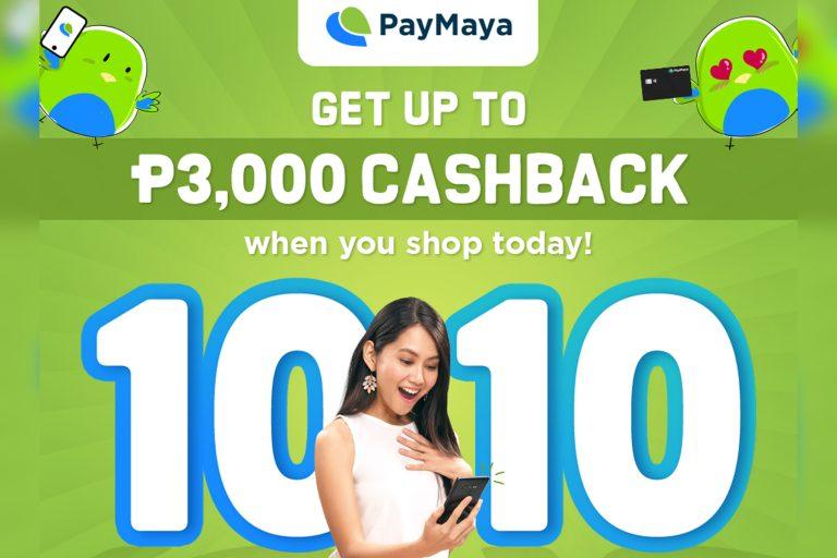 PayMaya 10.10 PHP 3000 Cashback