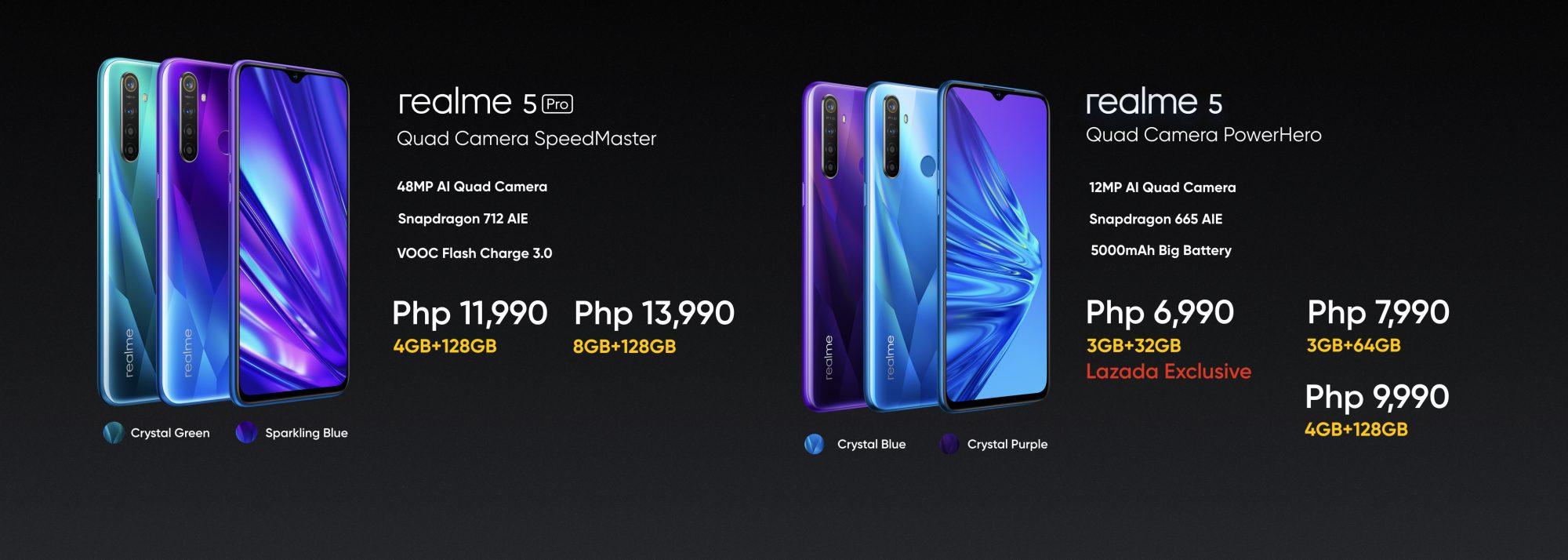 realme 5 and realme 5 Pro Prices