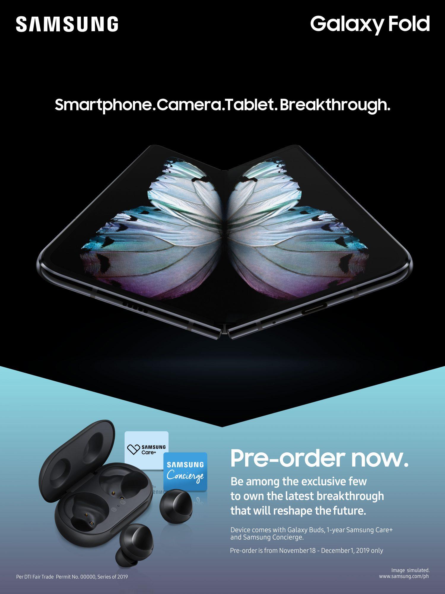Samsung Galaxy Fold Pre Order Poster
