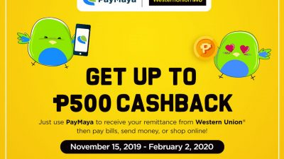 Earn up to PHP 1,500 when Receiving your Western Union Remittance with PayMaya