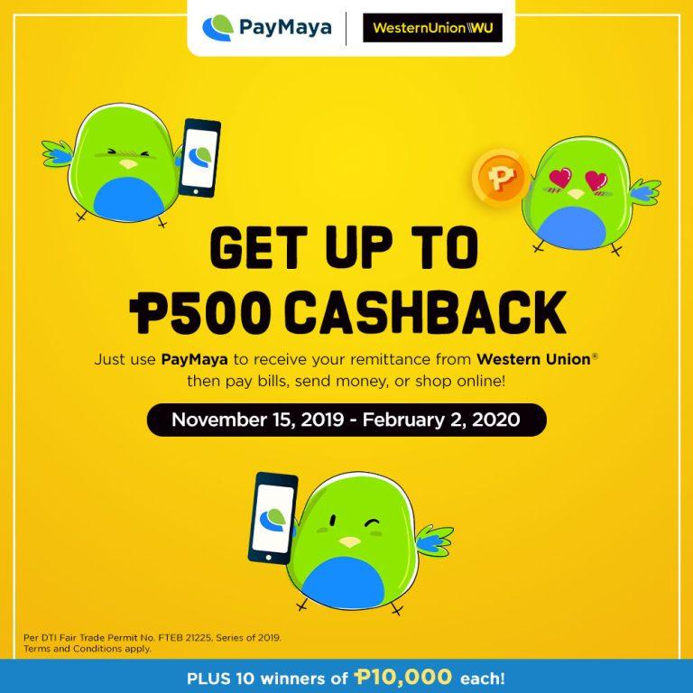 PayMaya x Western Union Remitance Promo