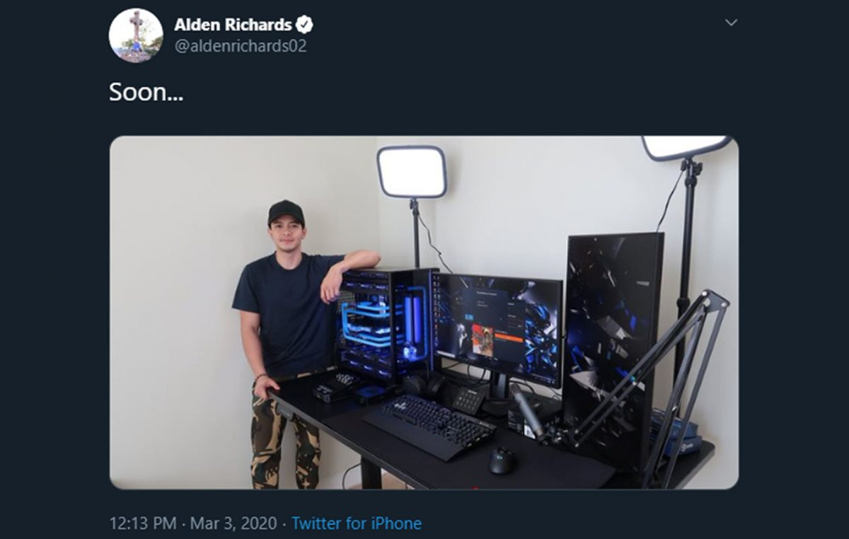 #AldenPautang Trends After Alden Richards Shows Off New Gaming Rig