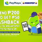 Get Cashback with PayMaya QR at Ministop