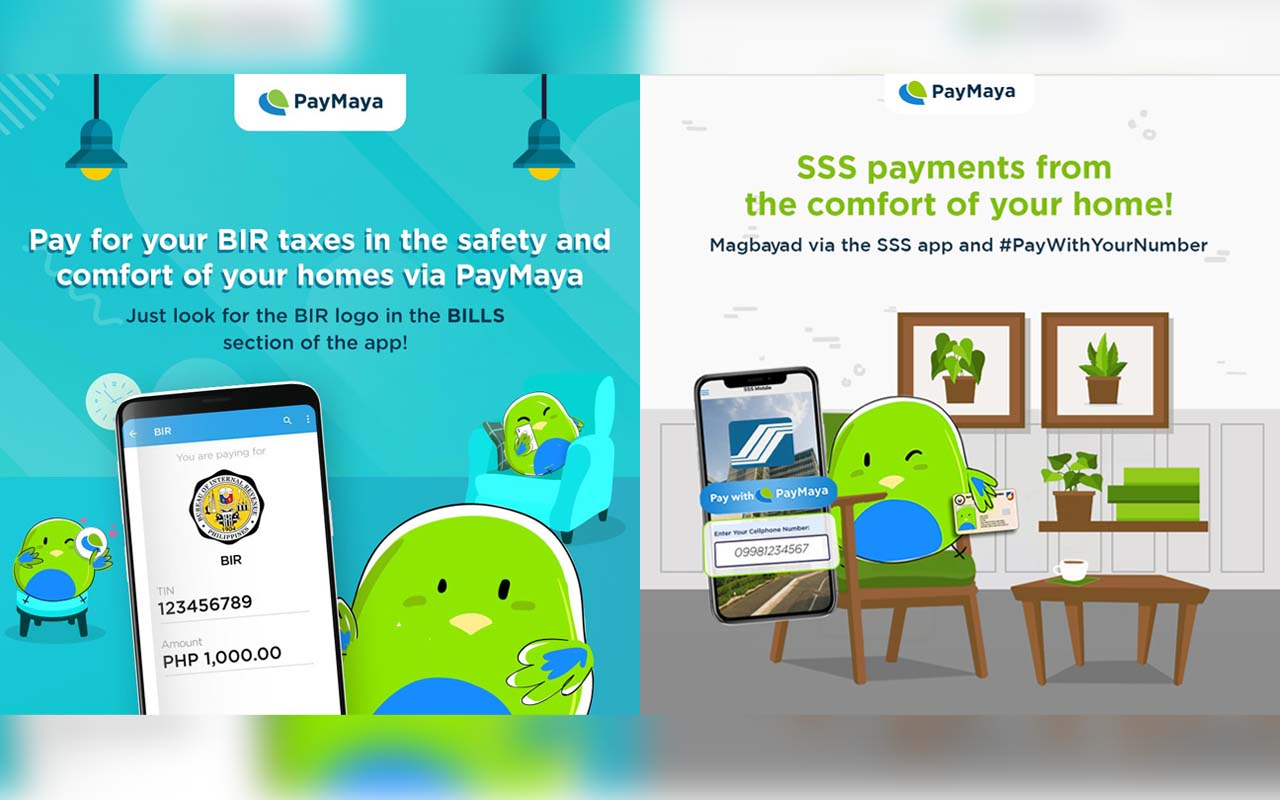 PayMaya Cashless Options for BIR, SSS, and other Government Agencies
