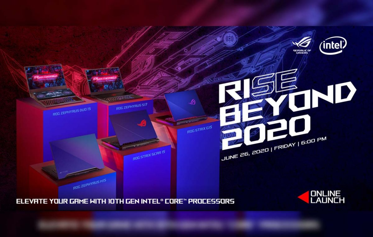 ROG to Unveil 10th Gen Gaming Lineup in Rise Beyond 2020 Launch