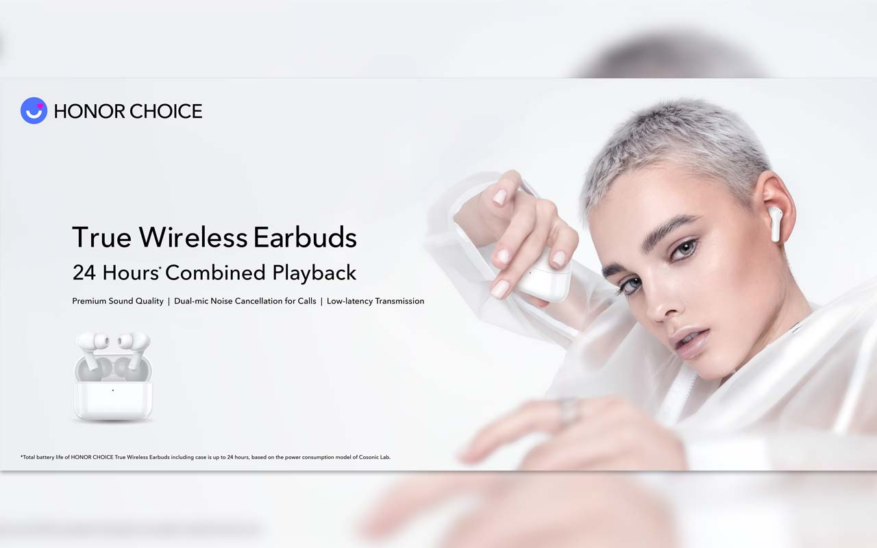 HONOR Launches HONOR CHOICE True Wireless Earbuds