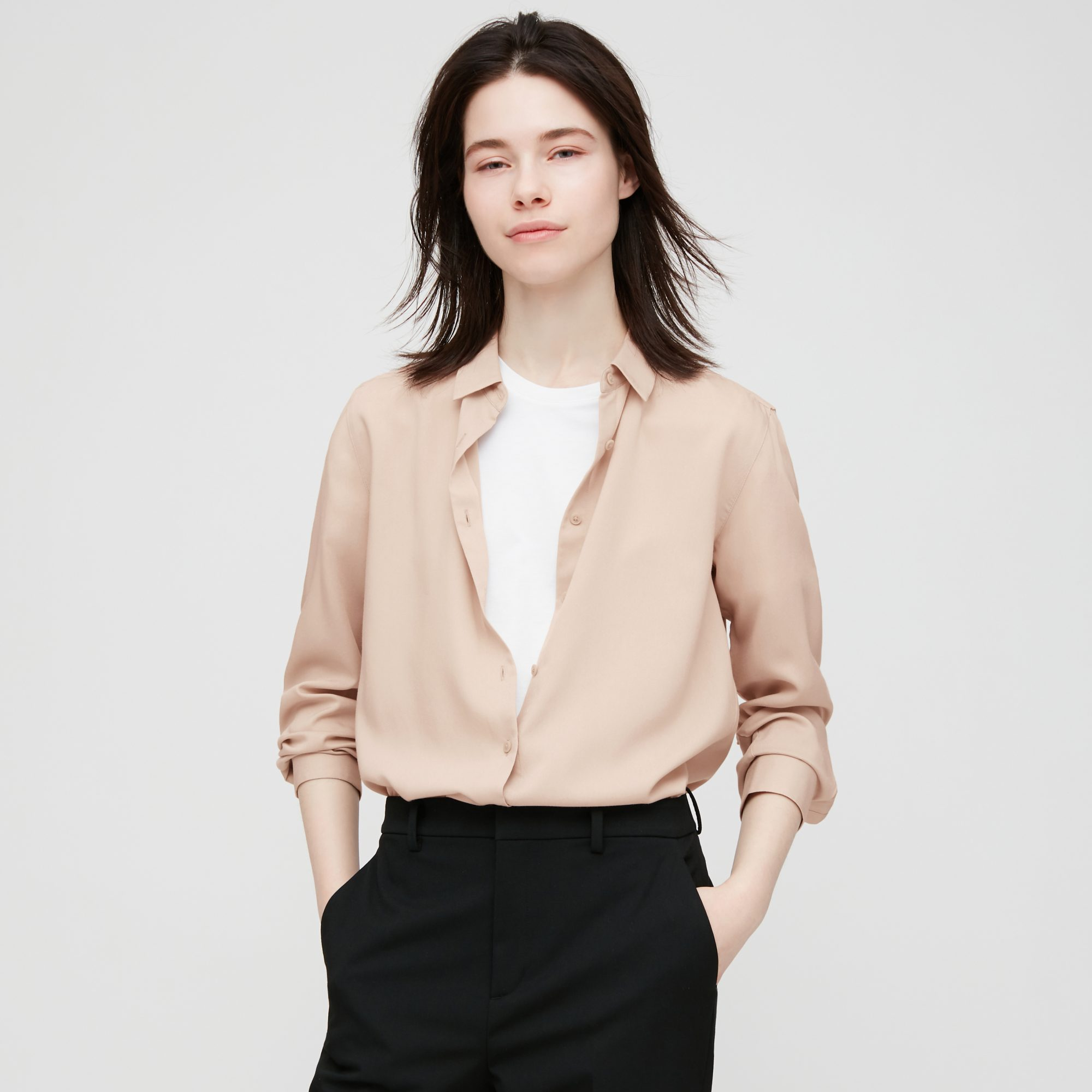 Ws Rayon Long Sleeve Blouse