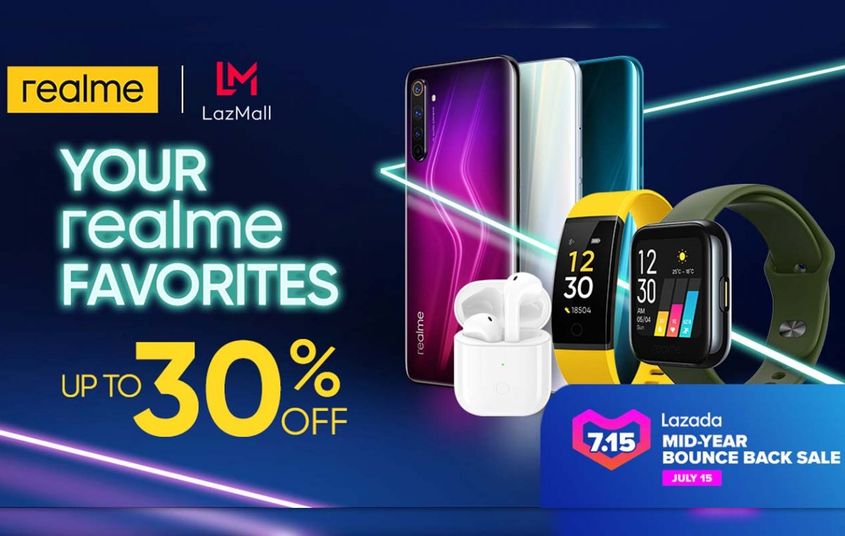 Up to 41% discount on realme Devices at the Lazada 7.15 Midyear Sale
