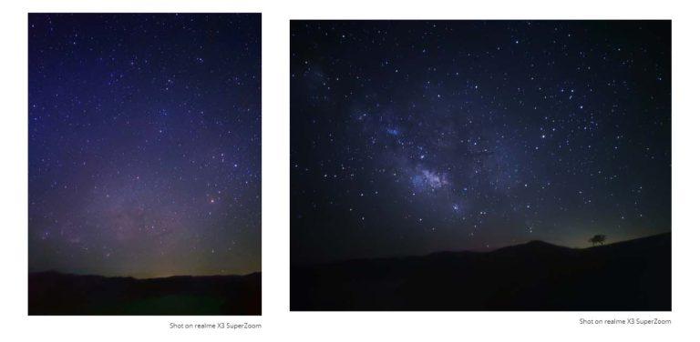 realme X3 SuperZoom Starry Night Mode