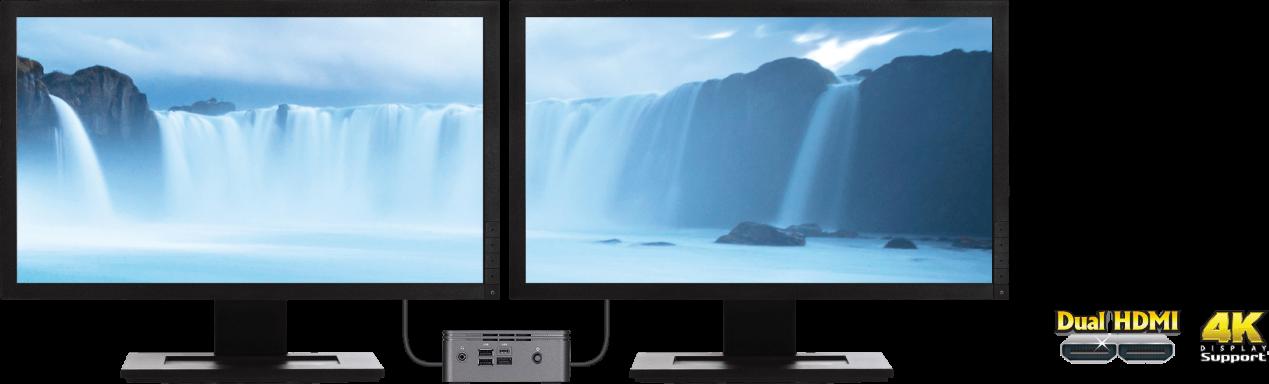 BRIX 4K Resolution Dual Display