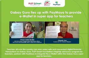 Gabay Guro ties up w/ PayMaya to provide Financial Account for Teachers
