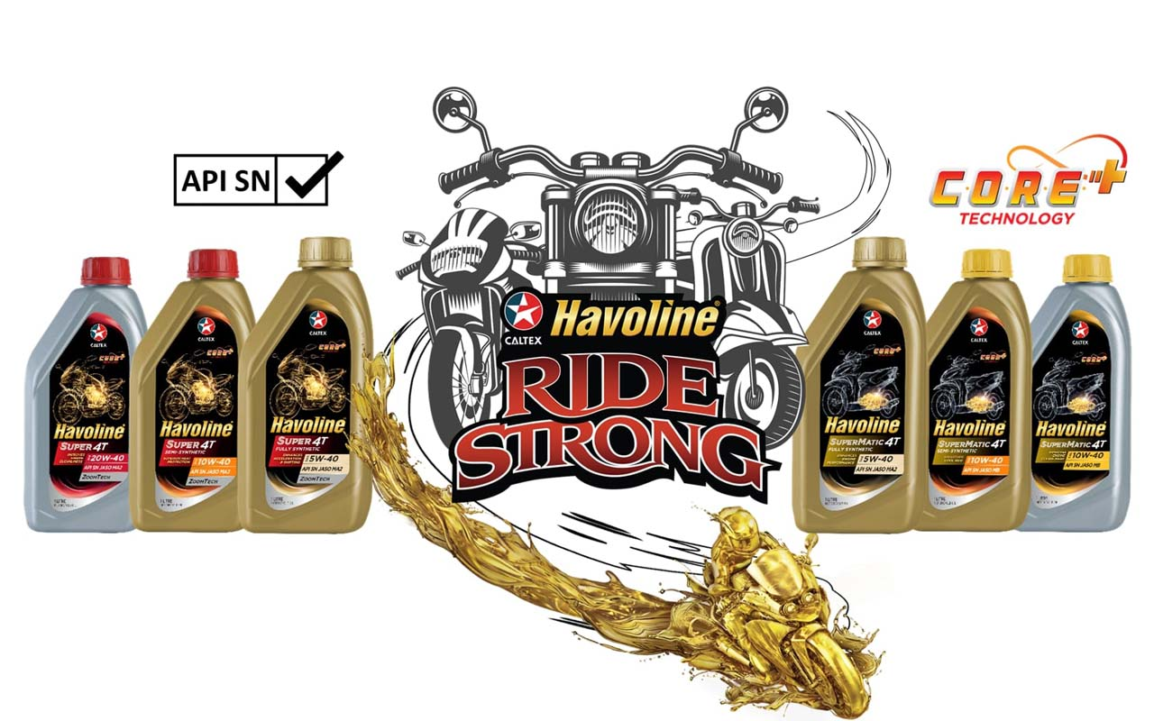 New Caltex Havoline Motorcycle and Scooter Oils with Announced