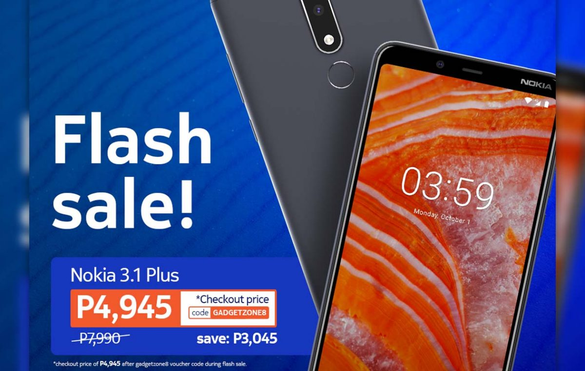 Nokia 3.1 Plus gets a Price Cut at Mega Cellular for Shopee Flash Deal