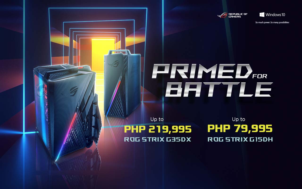 ROG Strix G35DX and Strix G15DH Desktops are Now Available in PH