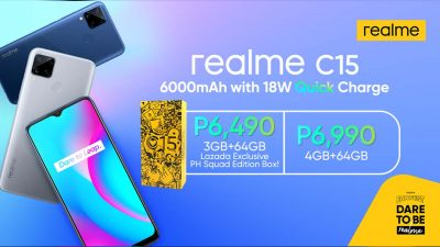 realme C15 is Now Available in PH – Boasting a 6,000 mAh Battery