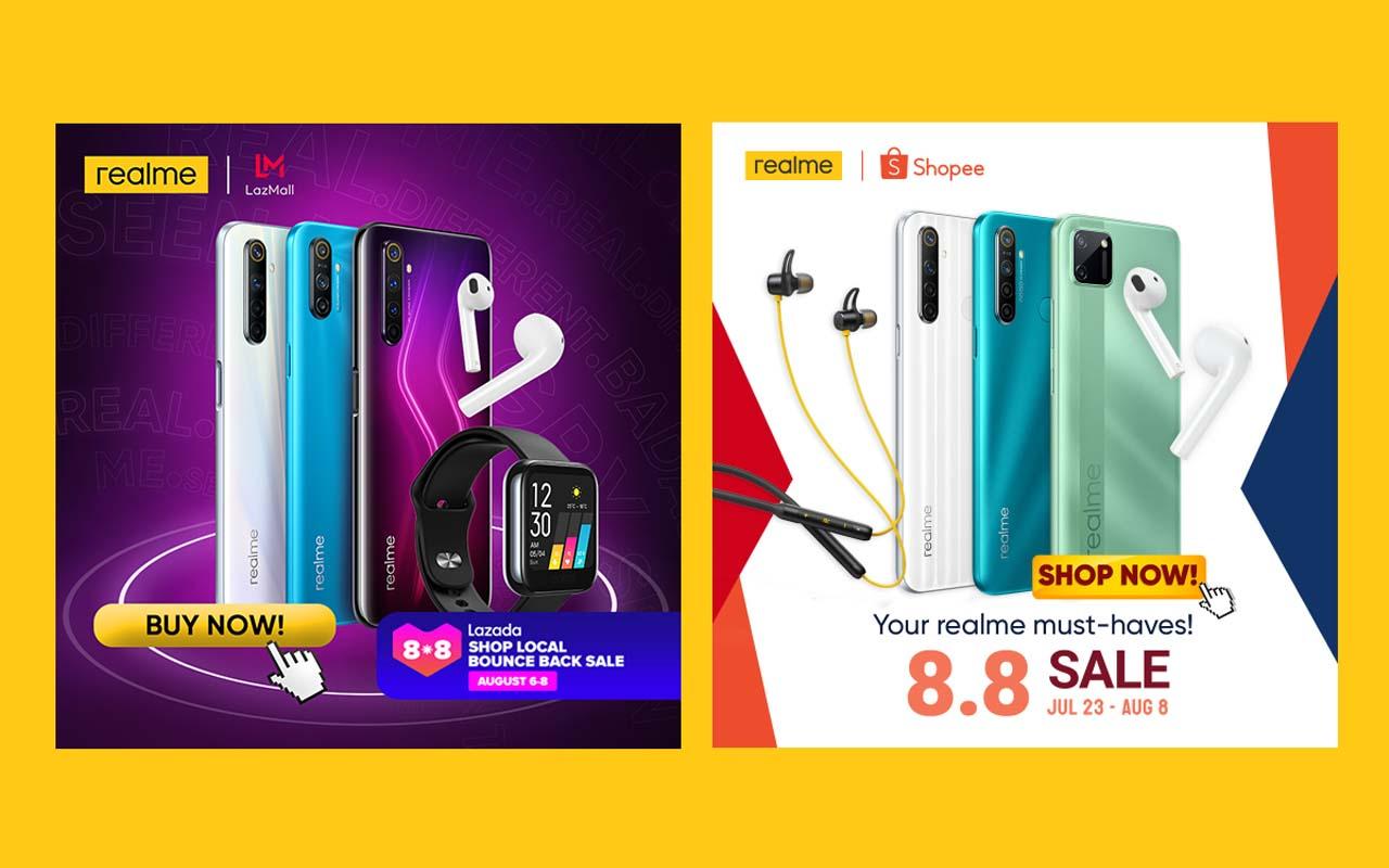 realme Shopee and Lazada 8.8 Sale