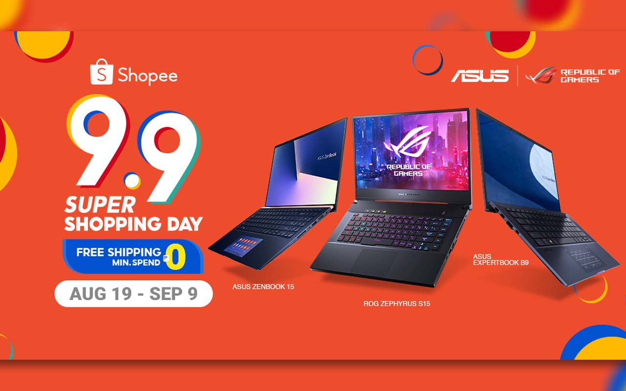 ASUS and ROG Join the Shopee 9.9 Super Shopping Day