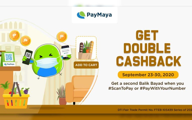 Get Double Cashback from PayMaya on September 23-30, 2020